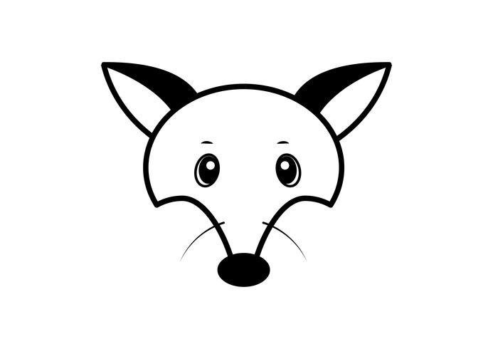 Image vectorielle d'un dessin de renard, illustration vectorielle. Logo animal.