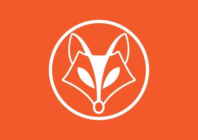 Imagen vectorial de un diseño de zorro, ilustración vectorial. Logo de animales.