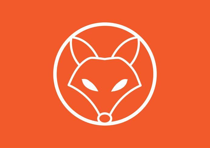 Vector image of a fox design, Vector illustration. Animal Logo.