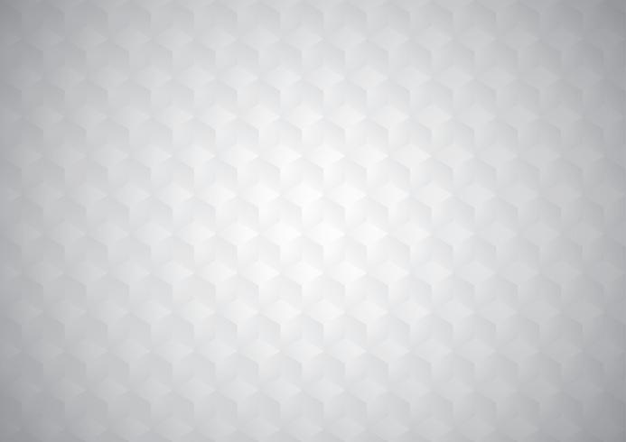 Papel branco 3D corta cubos sem costura padrão texturizado geométrico, de fundo vector
