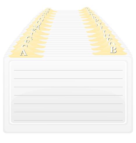 catálogo em ordem alfabética de ilustração vetorial