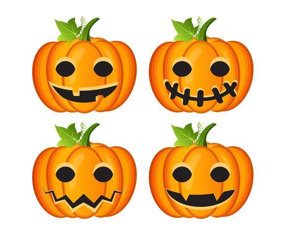 Halloween conjunto com abóboras