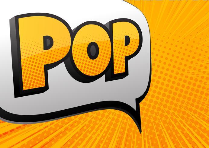 Letras cômicas pop no estilo pop art. Efeitos sonoros de texto em quadrinhos. som da fonte dos desenhos animados. Ilustração vetorial