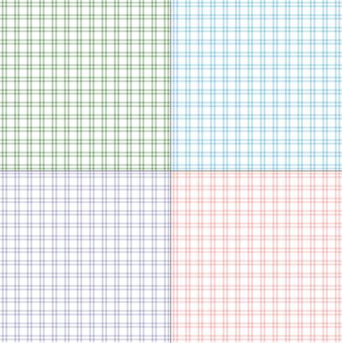 plaids simples en twill pastel vecteur