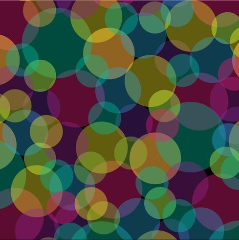 modello astratto sovrapposizione cerchi trasparente su sfondo nero