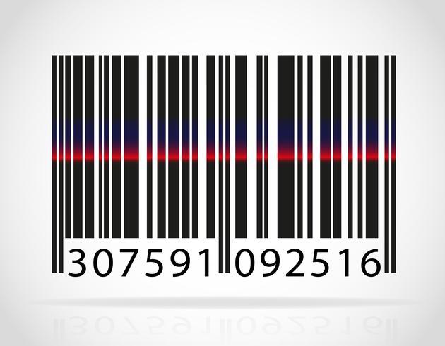 codice a barre con la striscia dall'illustrazione vettoriale laser