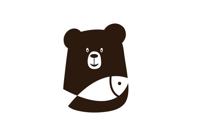 suportar com design de logotipo de peixe