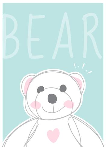 Cute Bear cartoon character vector