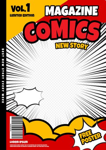 Comic Book Page Template Design Magazine Cover Download