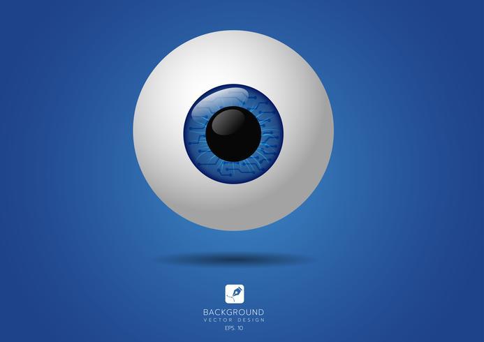 Ícone do símbolo de olho digital. ilustração vetorial