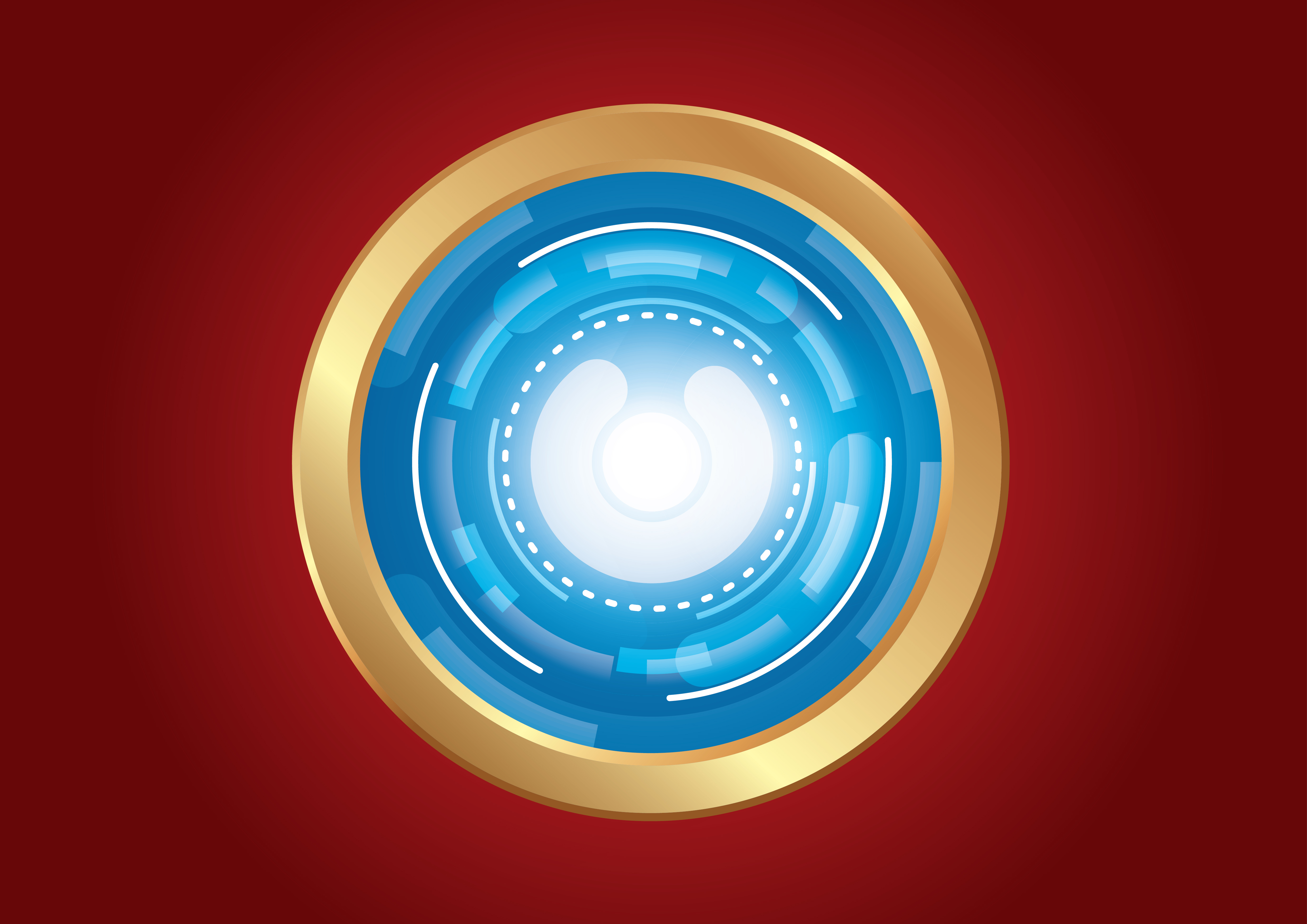 Abstract Technology Background With Light Effect: Technology Circle Effect Light Abstract Background