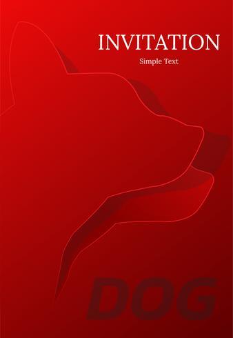 design de cartão do cão invatation