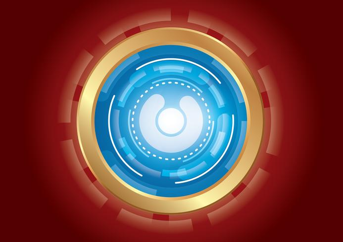 technology circle effect light abstract background vector