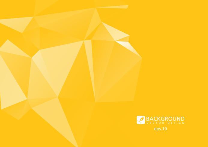 Fondo geométrico abstracto amarillo arrugado triangular bajo poli estilo vector ilustración gráfico de fondo