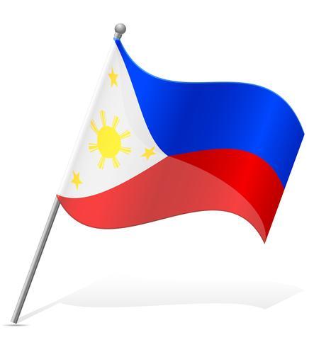 flagga av Filippinerna vektor illustration