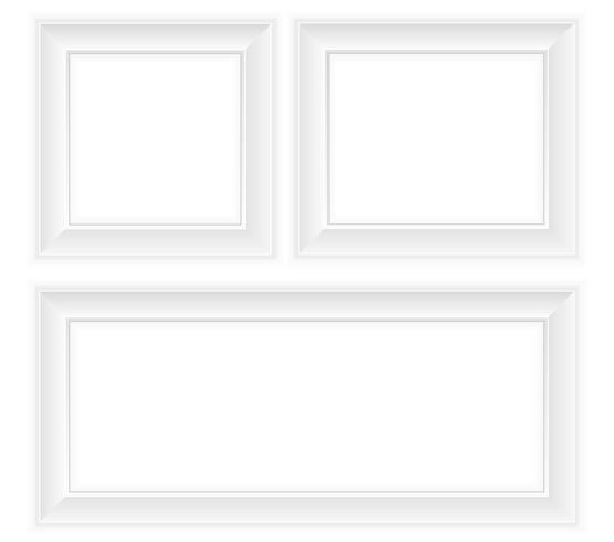 vit ram vektor illustration