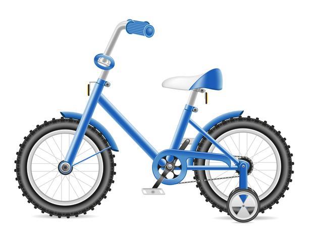 Bicicleta de niños para una ilustración de vector de niño
