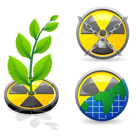 Zeichen ist eine Strahlungs- und Ökologievektorillustration