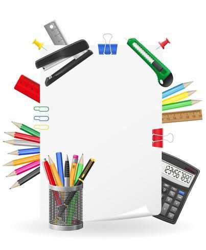 Set de papelería iconos vector illustration