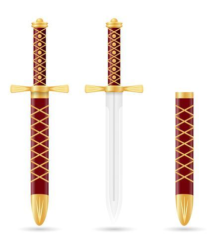battle dagger medieval stock vector illustration