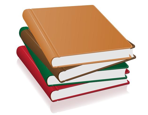 illustration vectorielle de livres pile