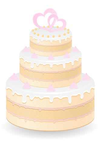 illustration vectorielle de gâteau de mariage