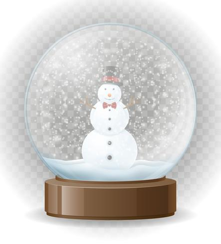 sneeuwbol transparante vectorillustratie