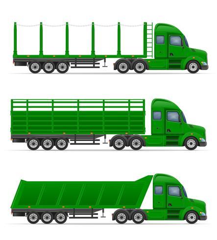 camion semi remorque pour le transport de marchandises vector illustration