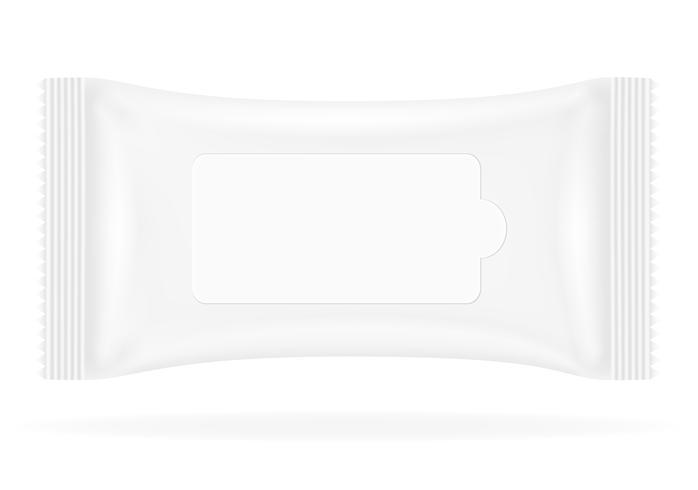 white sealed bag packing vector illustration