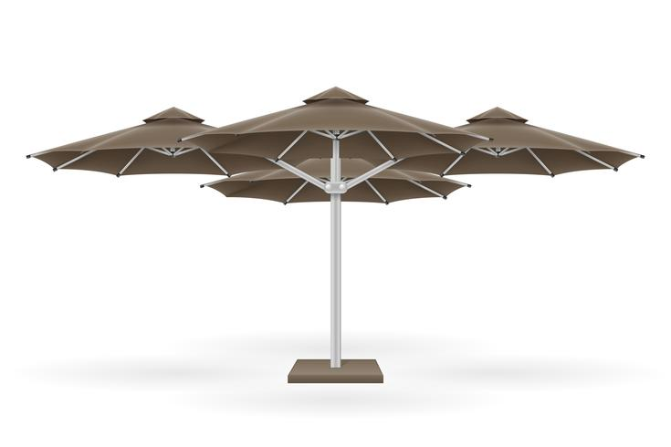 large sun umbrella for bars and cafes on the terrace or the beach vector illustration