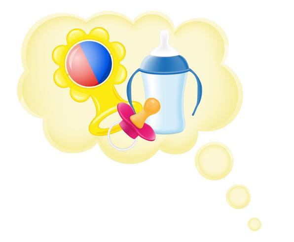 concetto di sogno un bambino in illustrazione vettoriale nuvola