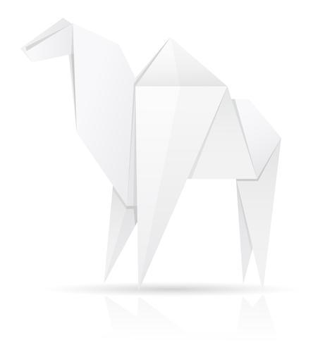 illustration vectorielle de papier chameau origami
