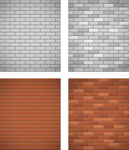 wall of white and red brick seamless background vector