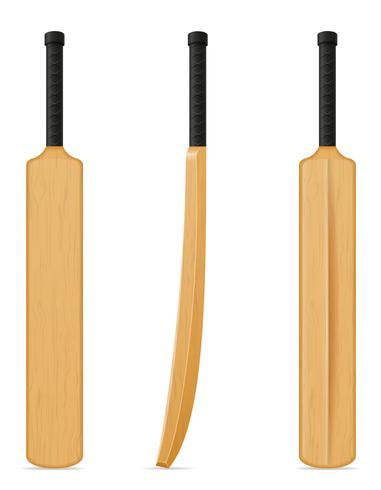 ilustração em vetor bastão de críquete