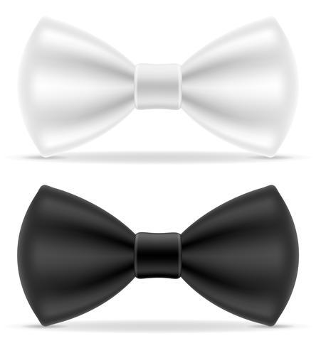 gravata preta e branca para homens uma ilustração do vetor de terno