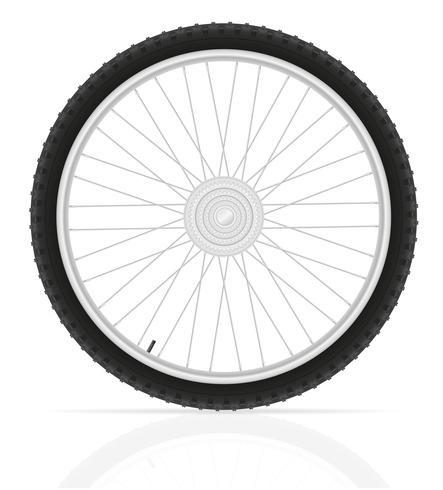illustration vectorielle de roue de vélo