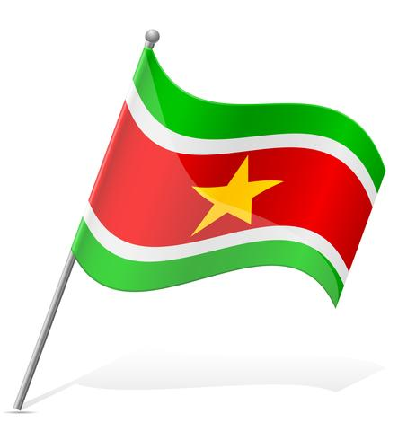 vlag van Suriname vectorillustratie