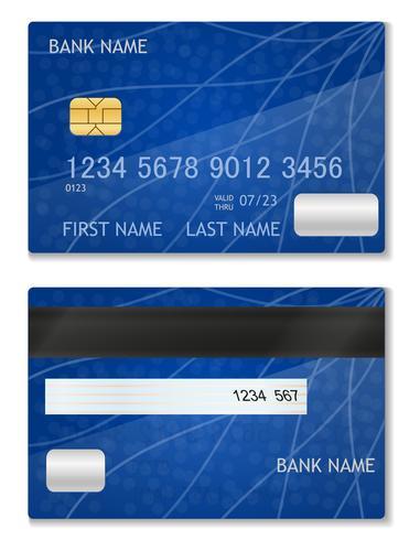 bankkaart voorraad vectorillustratie