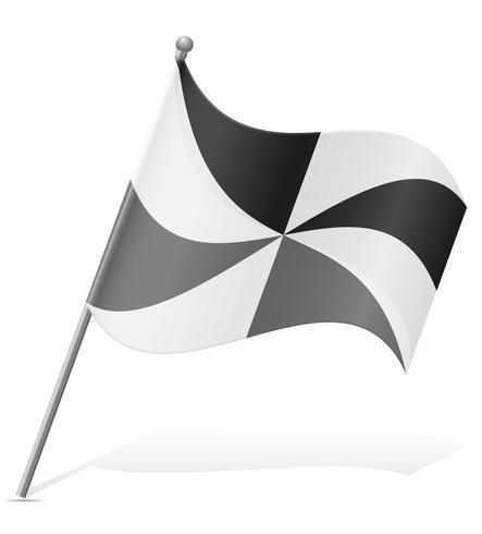 flagga av Ceuta vektor illustration