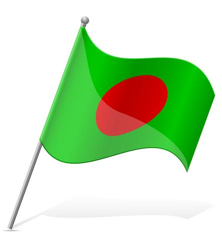 Flagge der Bangladesch-Vektor-Illustration