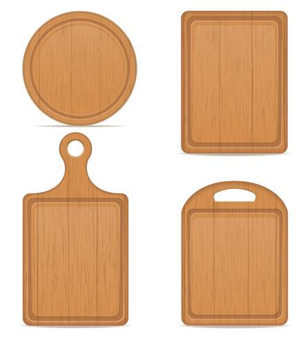 wooden cutting board vector illustration