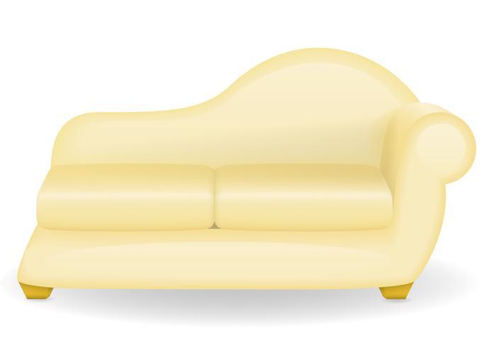 sofá muebles ilustración vectorial