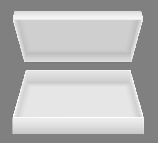 weiße offene Verpackungskasten-Vektorillustration