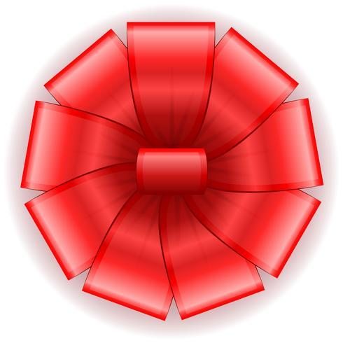 bow for gift vector illustration