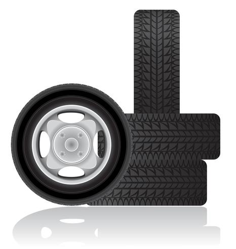 illustration vectorielle de roue de voiture