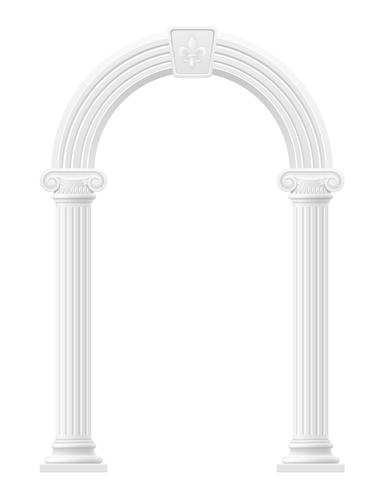 antique arch stock vector illustration