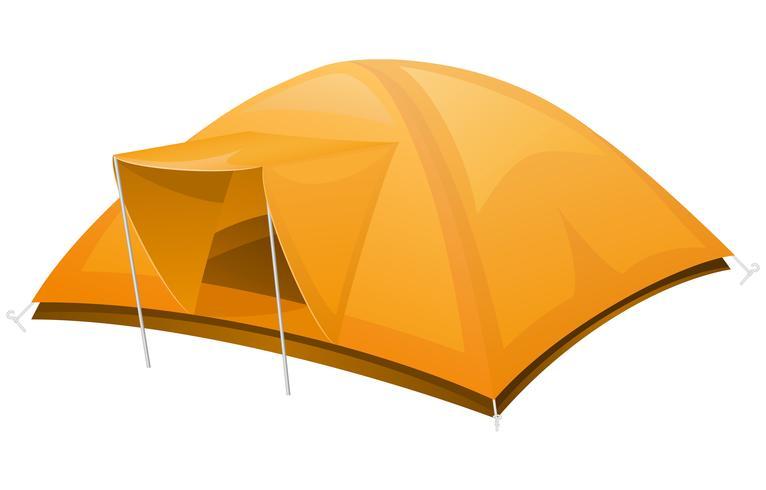 illustrazione vettoriale di tenda turistica