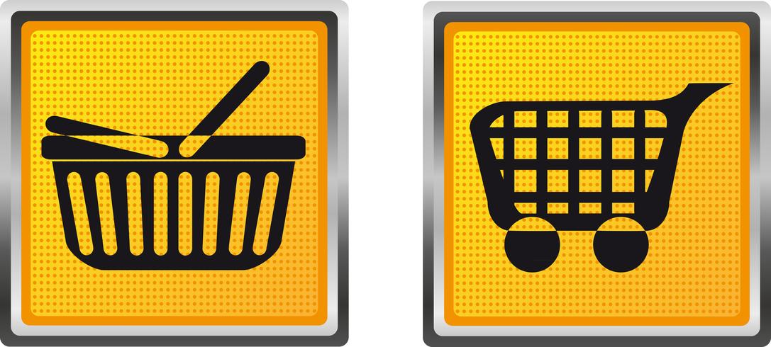 ikoner kundvagn och vagn för design vektor illustration