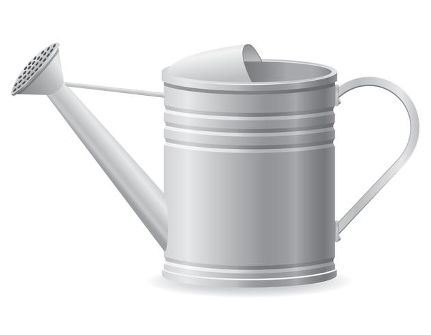 metal watering can vector illustration