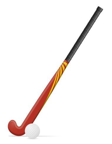 fält hockey pinne och boll vektor illustration